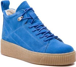 Sneakersy Tamaris sznurowane na koturnie w stylu casual