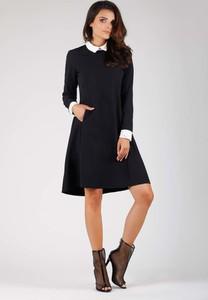 Czarna sukienka Nommo trapezowa midi