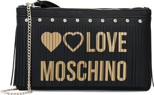 Torebka Love Moschino zdobiona ze skóry