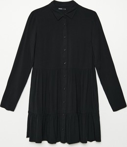 Czarna sukienka Cropp mini koszulowa
