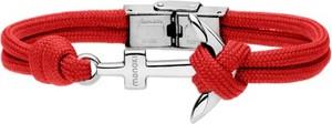 Manoki BA628C czerwona bransoletka z kotwicą