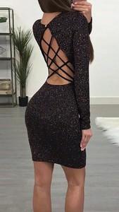 Sukienka noshame z długim rękawem mini