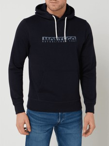 Granatowa bluza Montego z nadrukiem z bawełny