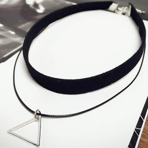 IZMAEL.eu Naszyjnik Triangle - Czarny/Srebrny