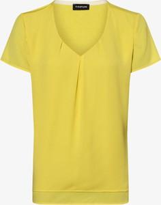 Żółta bluzka Taifun z krótkim rękawem w stylu casual