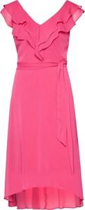 Sukienka DKNY z dekoltem w kształcie litery v midi bez rękawów