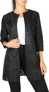 Czarny płaszcz Emporio Armani z bawełny w stylu casual