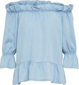 Niebieska bluzka Vero Moda w stylu casual