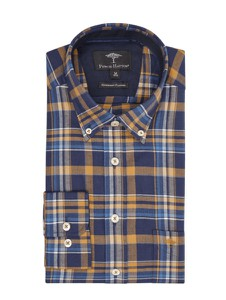 Koszula Fynch Hatton z długim rękawem z bawełny