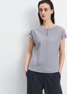 Bluzka Mohito w stylu casual z okrągłym dekoltem z krótkim rękawem