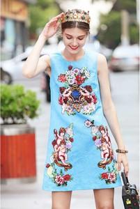 Sukienka Burryco mini z okrągłym dekoltem