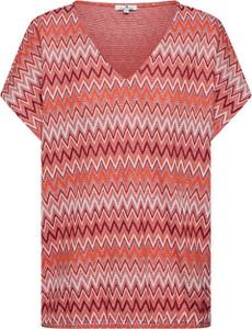 Bluzka Tom Tailor z dżerseju w geometryczne wzory