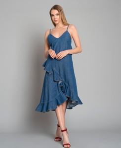 Niebieska sukienka Kenzo w stylu casual