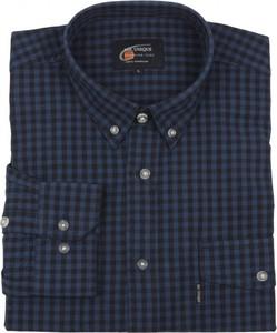 Granatowa koszula Mr.unique z długim rękawem z bawełny