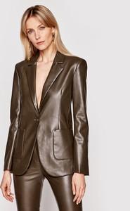 Brązowa kurtka Patrizia Pepe krótka w stylu casual
