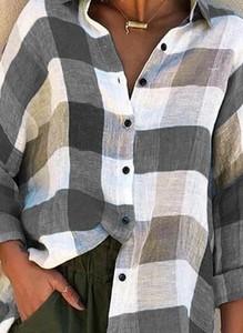 Koszula Sandbella w stylu casual z kołnierzykiem z długim rękawem