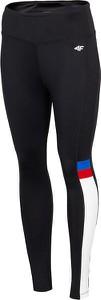 Czarne legginsy 4F w sportowym stylu w geometryczne wzory