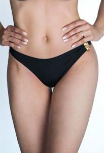 Czarny strój kąpielowy Moschino z nadrukiem
