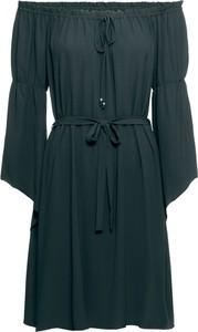 Zielona sukienka bonprix RAINBOW z długim rękawem