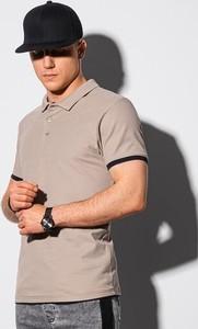 Koszulka polo Ombre z krótkim rękawem z bawełny