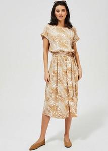 Sukienka Moodo.pl midi z krótkim rękawem