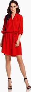 Czerwona sukienka Lemoniade mini koszulowa z długim rękawem