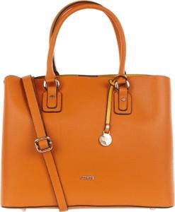 Pomarańczowa torebka L.Credi ze skóry