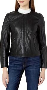 Czarna kurtka Armani Exchange ze skóry w stylu casual