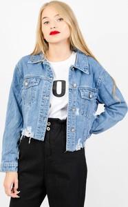 Niebieska kurtka Olika z jeansu w stylu casual