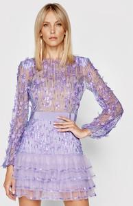 Fioletowa sukienka Elisabetta Franchi