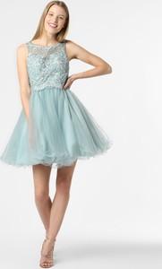 Miętowa sukienka Laona mini rozkloszowana bez rękawów