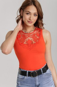 Bluzka Renee z okrągłym dekoltem w stylu casual