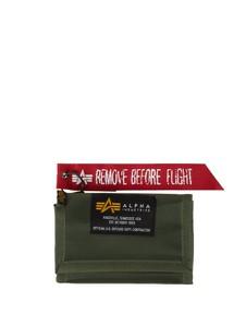 Czerwony portfel męski Alpha Industries