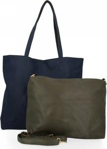 Zielona torebka Bee Bag na ramię w wakacyjnym stylu duża