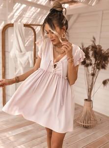Różowa sukienka SELFIEROOM mini