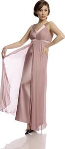 Różowa sukienka Fokus z dekoltem w kształcie litery v