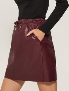 Brązowa spódnica House mini w młodzieżowym stylu