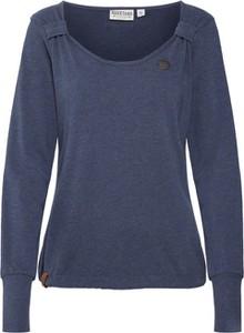 Niebieska bluza Naketano krótka z dresówki