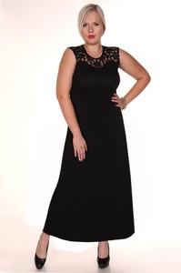 Sukienka Fokus bez rękawów maxi z dżerseju