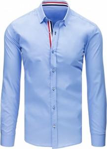 Niebieska koszula Dstreet z kołnierzykiem button down