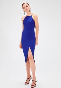 Sukienka Trendyol ołówkowa z dekoltem halter bez rękawów