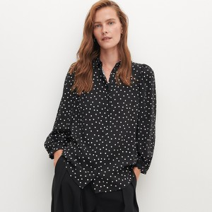 Czarna koszula Reserved w stylu casual z długim rękawem