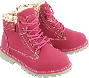 Różowe buty dziecięce zimowe Wojtyłko