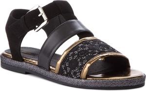 Buty dziecięce letnie geox z płaską podeszwą z klamrami w stylu casual
