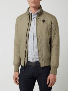 Zielona kurtka Blauer Usa krótka w stylu casual