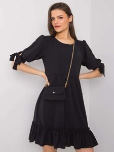 Sukienka Sheandher.pl mini z długim rękawem z okrągłym dekoltem