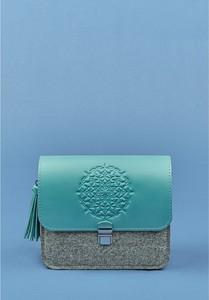 Turkusowa torebka Blanknote w wakacyjnym stylu mała ze skóry