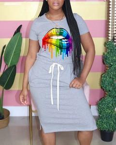 Sukienka Kendallme z okrągłym dekoltem w stylu casual dopasowana