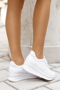 Buty sportowe Saway w stylu casual sznurowane ze skóry