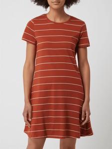 Sukienka Only koszulowa z krótkim rękawem z bawełny